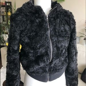 H&M - faux fur jacket